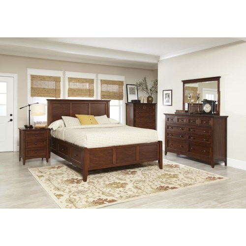 Avalon Furniture Beacon St Queen Bedroom Group Pilgrim Furniture City Bedroom Group