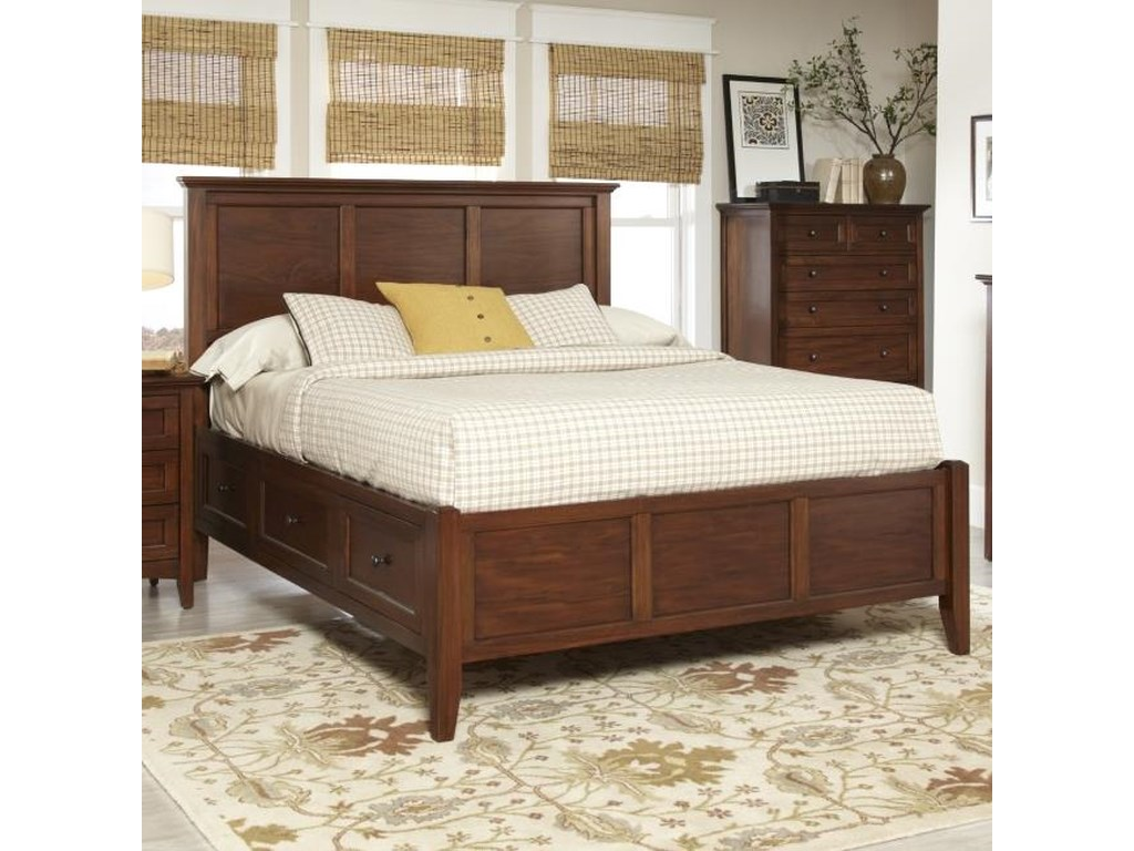 Avalon Furniture Beacon StQueen Panel Bed