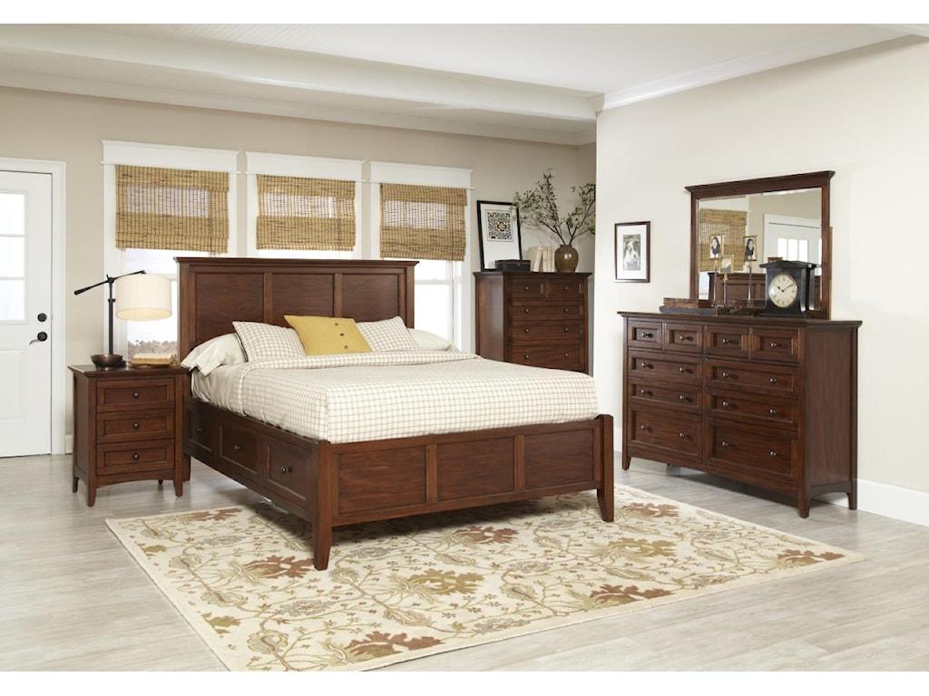 Avalon Furniture Beacon StQueen Panel Bed