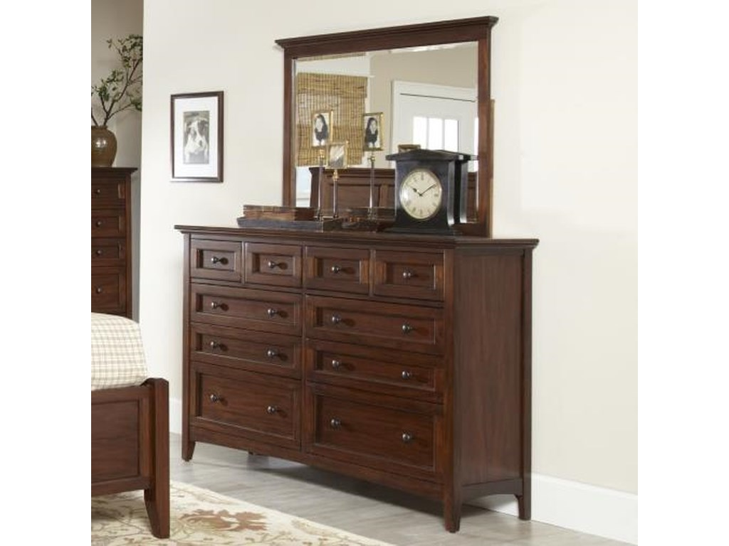 Avalon Furniture Beacon StDresser and Mirror