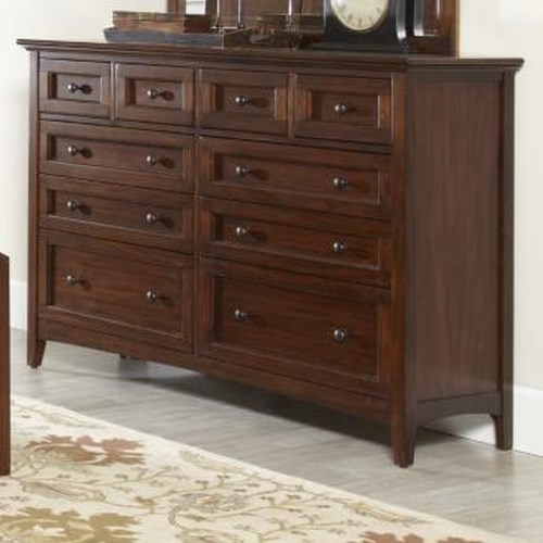 Avalon Furniture Beacon St 10 Drawer Dresser With Molded Top Pilgrim Furniture City Dresser