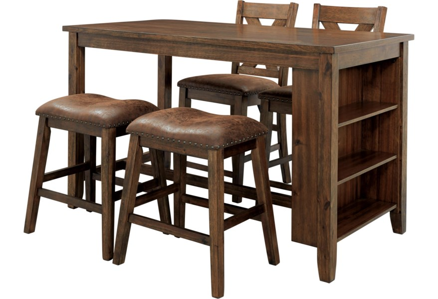 Cool Chaleny 4 Piece Counter Table And Stool Set Cjindustries Chair Design For Home Cjindustriesco