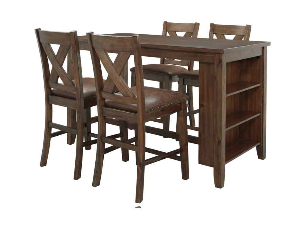 Benchcraft Chaleny4-Piece Counter Table and Stool Set