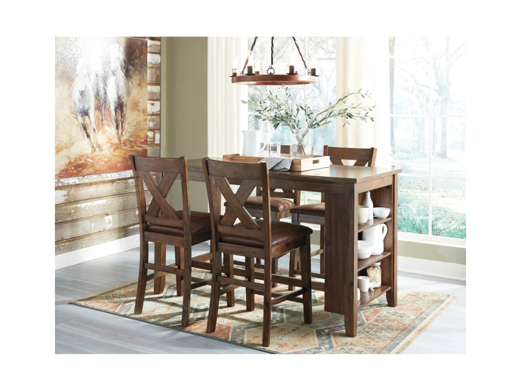 Benchcraft by Ashley Chaleny4-Piece Counter Table and Stool Set