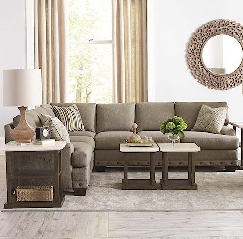 Bassett CU.2 Carmine Five Seat Sectional Sofa | Wayside Furniture ...