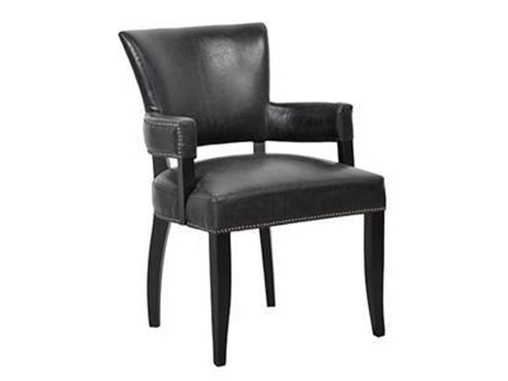Dining collection leather dining arm chair