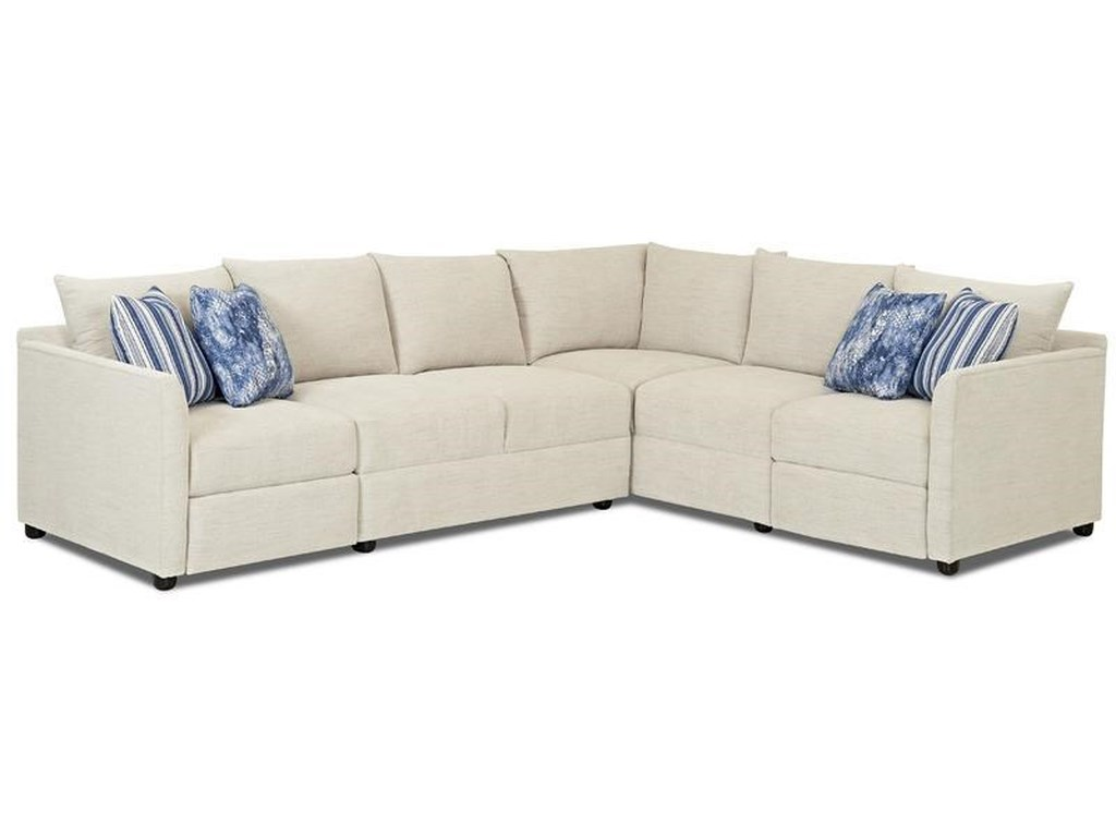 Klaussner Atlanta 2 Piece Hybrid Inclining Sectional in Curious ...