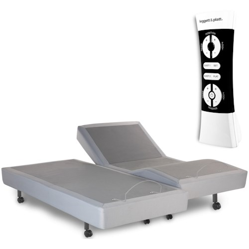 Fashion Bed Group Simplicity 2.0  Simplicity 2.0 Adjustable Bed Base with Full Body Massage and Wireless Remote with Gray Finish
