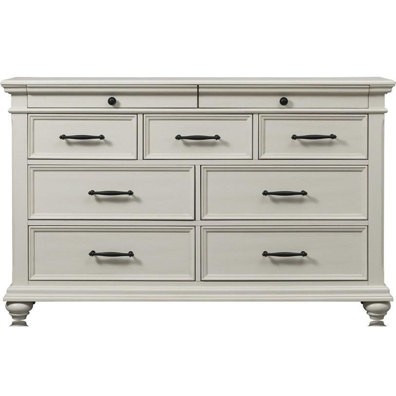 Transitional 9-Drawer Dresser
