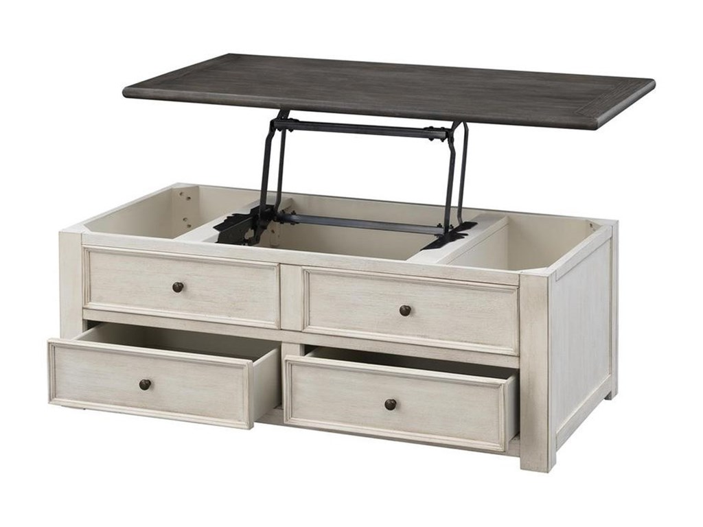 Coast to Coast Imports St. ClaireTwo Drawer Lift Top Cocktail Tabl
