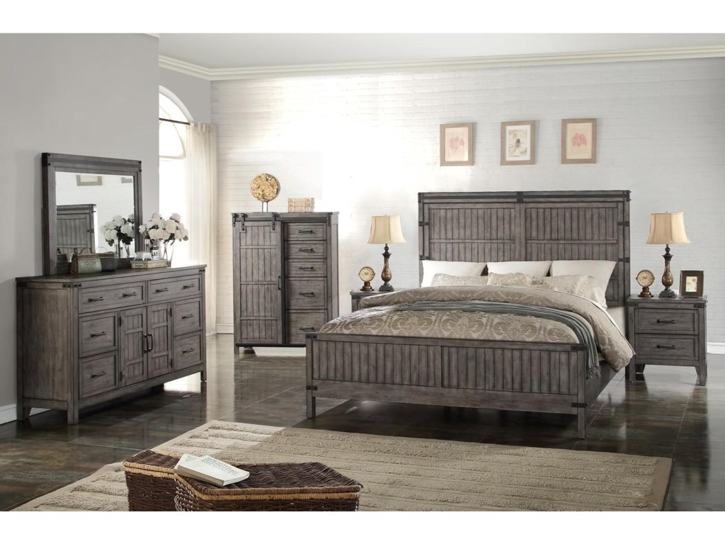 Legends Furniture Storehouse CollectionQueen Bedroom Group