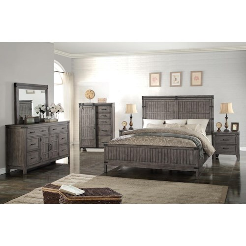 Legends Furniture Storehouse Collection Queen Bedroom Group