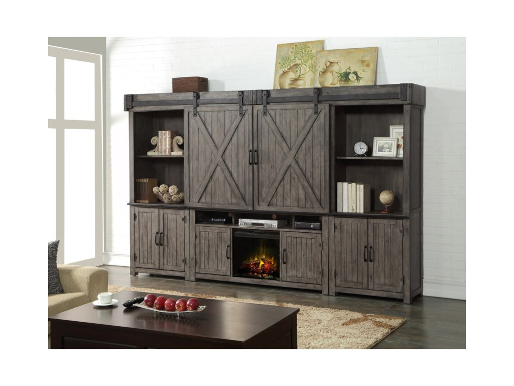 Legends Furniture Storehouse CollectionFireplace Entertainment Wall Unit