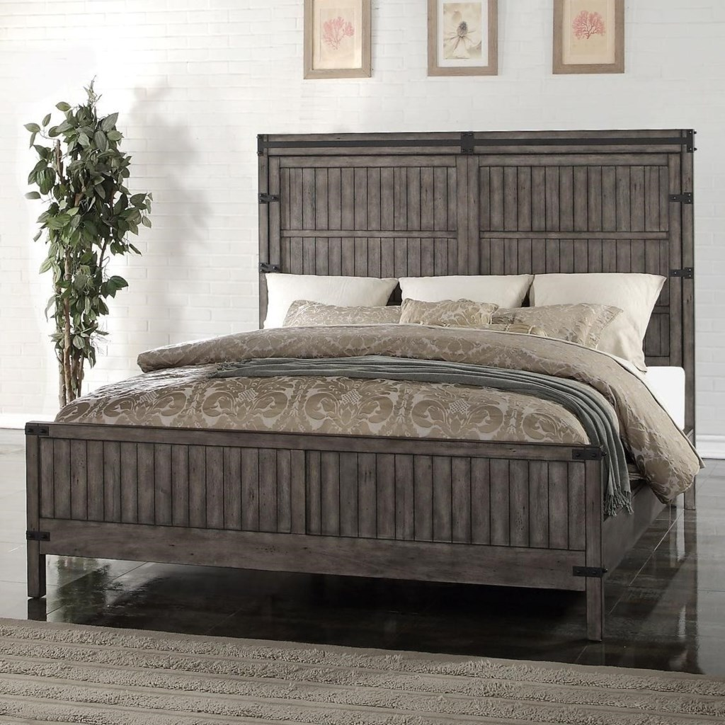 Vendor 1356 Storehouse Collection Queen Wood Panel Bed Becker