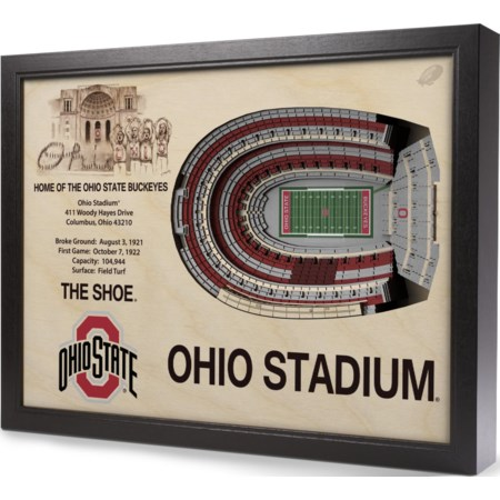 OHIO STATE BUCKEYES STADIUMVIEW 3D WALL ART
