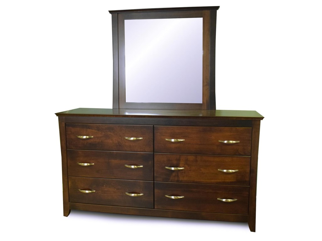 Amish Furniture WillemingtonDresser and Mirror