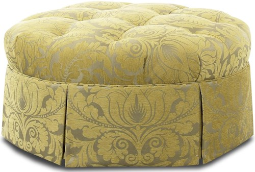 Comfort Design Accents Cass Traditional Round Tufted Cocktail Ottoman
