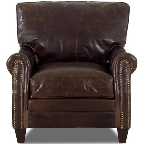 Comfort Design Camelot Upholstered Chair with Exposed Wooden Legs and Welt Cord Trim
