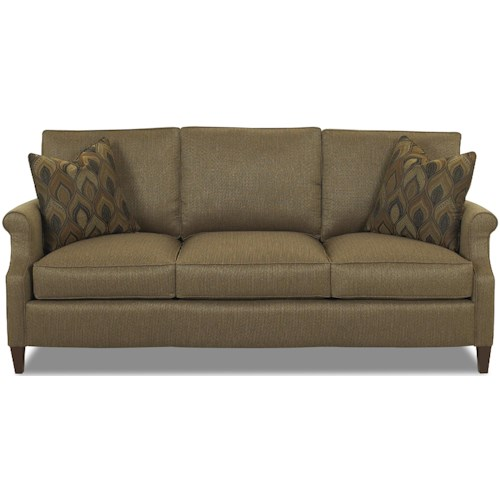 Comfort Design Chairman Transitional 3 Seat Stationary Sofa