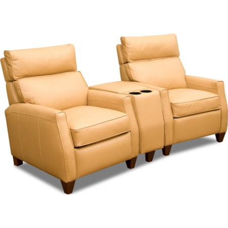 Two Seat Reclining Theater Sect w/ High Leg