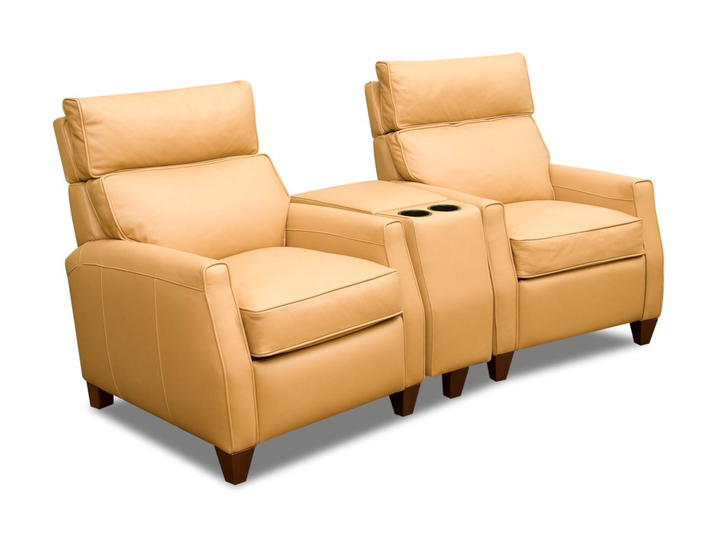 Comfort Design CollinsTwo Seat Reclining Theater Sect w/ High Leg