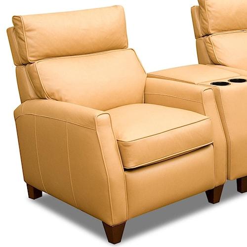 Comfort Design Collins Leather High Leg Recliner with Adjustable Headrest