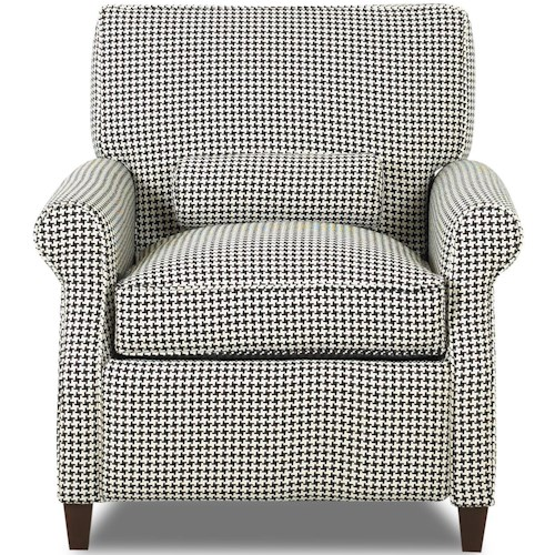 Comfort Design First Lady High Leg Recliner with Power Headrest and Push on Arm Release