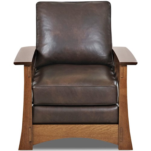 Comfort Design Highlands Upholstered Chair with Wooden Base and Loose Pillow Back