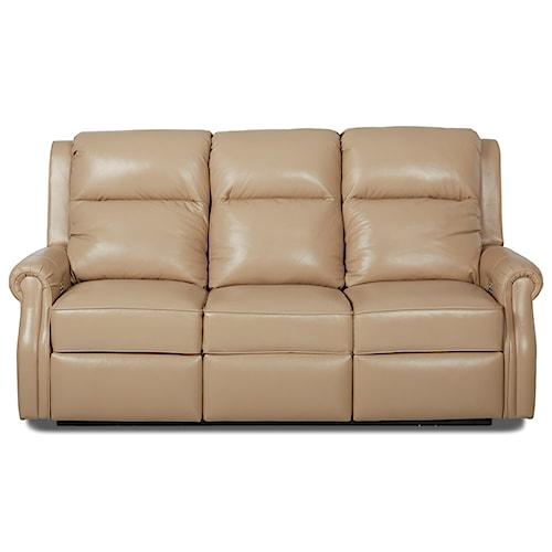 Comfort Design Jamestown Power Reclining Sofa with Power Headrest Lumbar and USB Ports