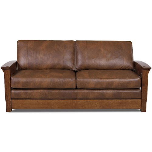 Comfort Design Palmer Upholstered Sofa With Wooden Base And Welt Cord Trim