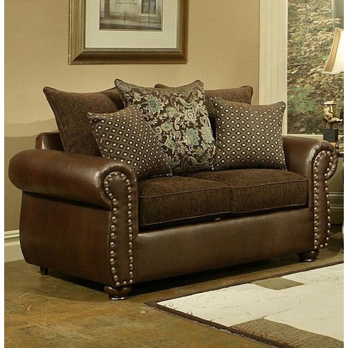 Comfort Industries Austin  Classic Styled Loveseat with Elegant Davenport Look