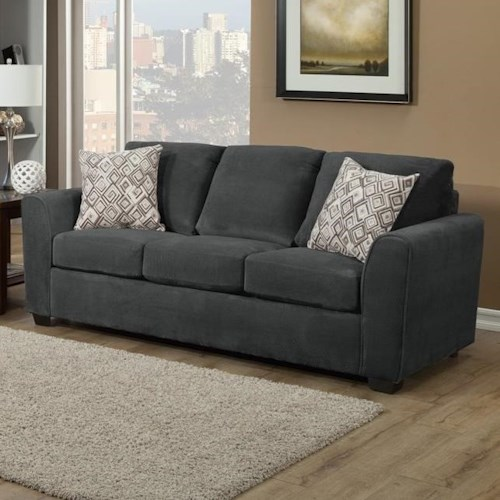 Comfort Industries Liberty Casual Stationary Sofa With Flare Tapered Arms