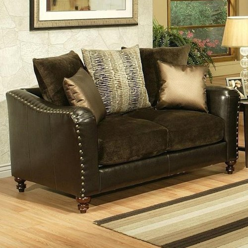 Comfort Industries Remy REMY Loveseat with Turned Feet