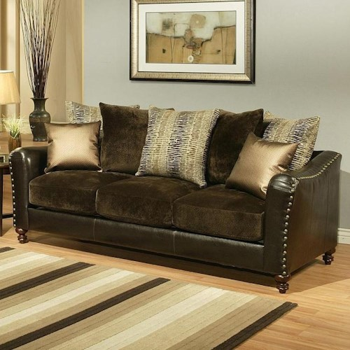 Comfort Industries Remy REMY Stationary Sofa with Turned Legs