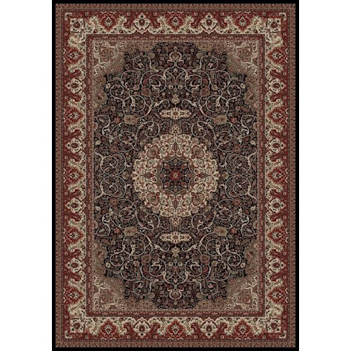 Concord Global Trading Inc. Presidential 7.10 x 11.2 Area Rug : Black