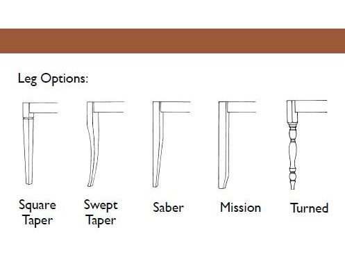 Table Features Five Customizable Leg Options