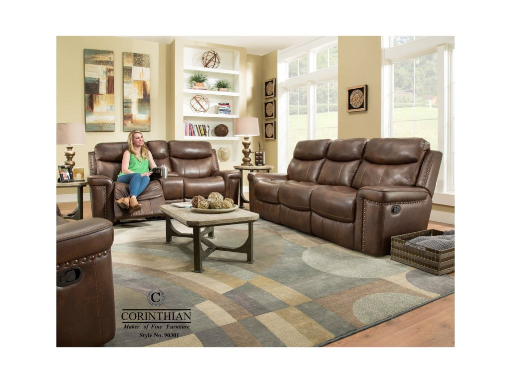 VFM Signature 090301Power Reclining Sofa w/ Power Headrest