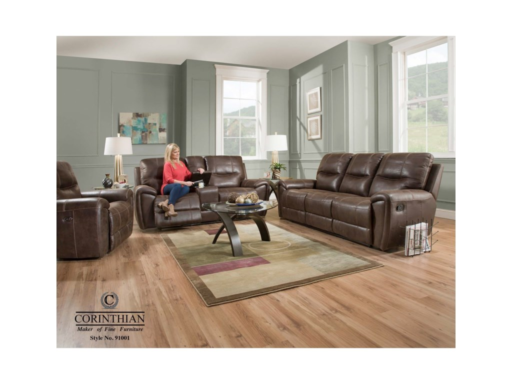 Corinthian 91001 91001 30 Casual Reclining Sofa Household
