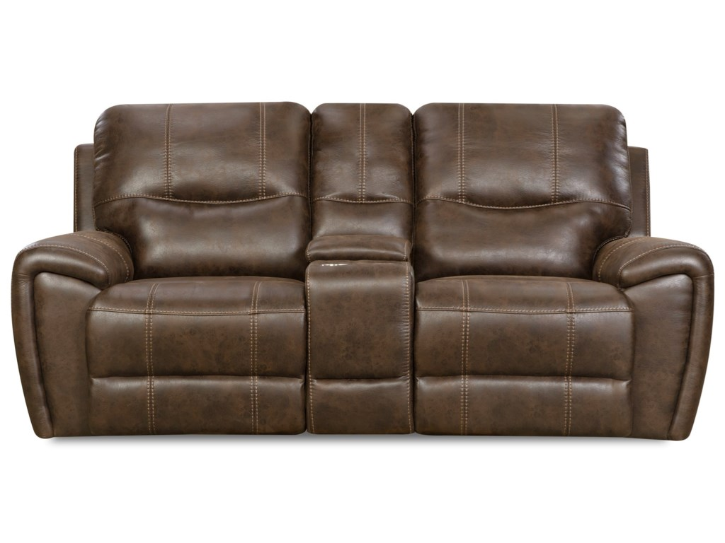 Corinthian 91001Console Power Reclining Loveseat