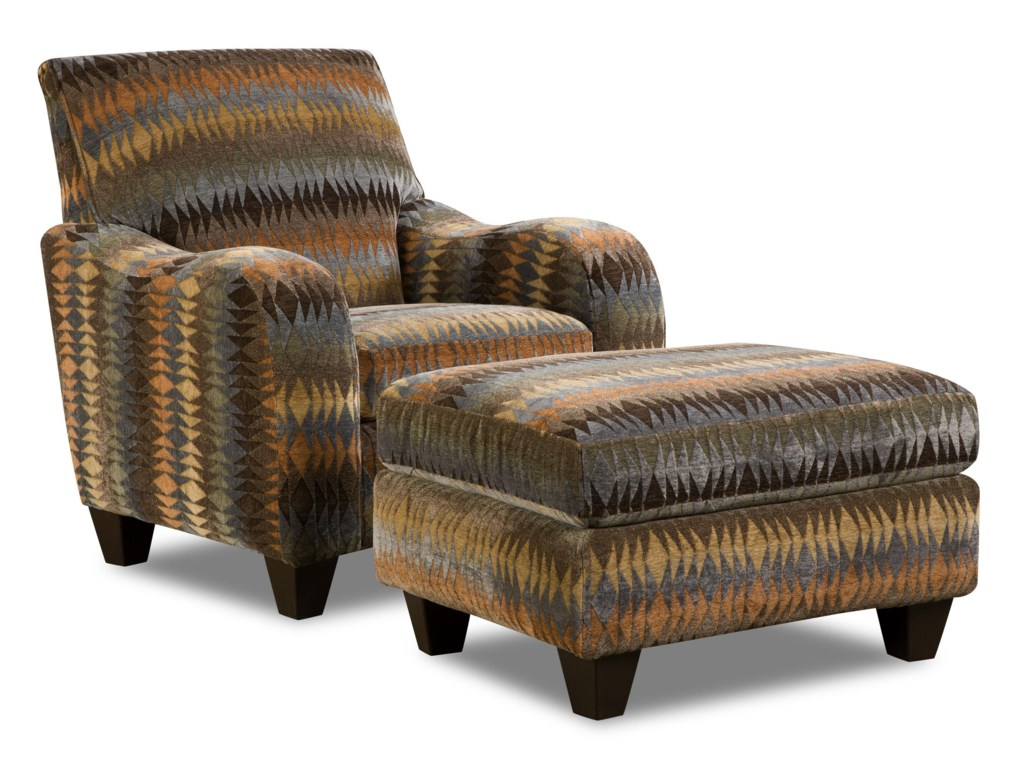 Corinthian 23A0Specialty Chair and Ottoman