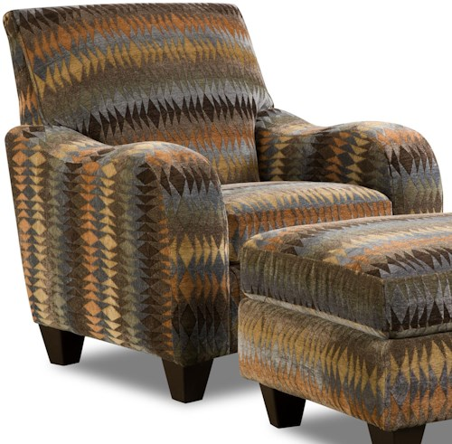 Corinthian 23A0 Native Print Casual Chair