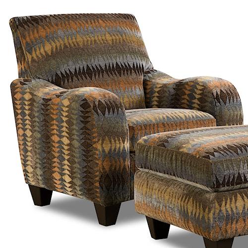 Corinthian 23A0 Native Print Casual Chair
