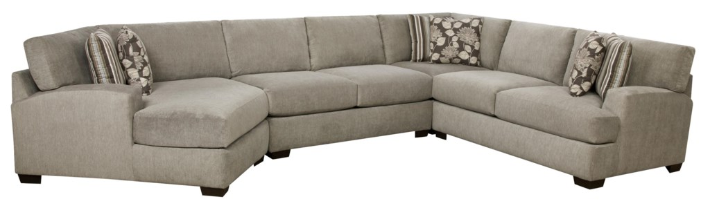 Corinthian Josephine Josephine 4 Piece Sectional Sofa Great