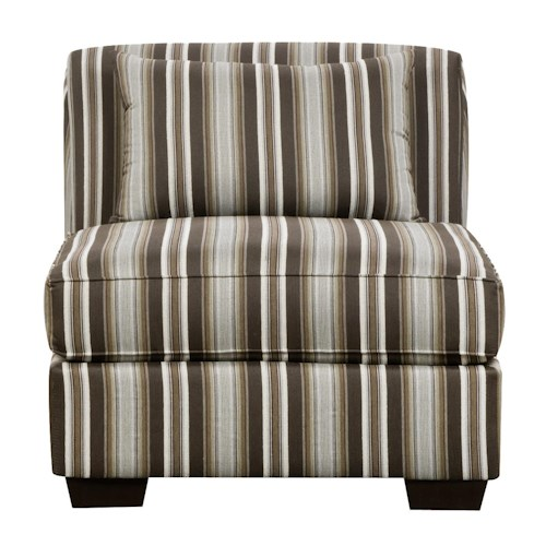 Corinthian 29A0 No Arm Slipper Chair with Contemporary Style