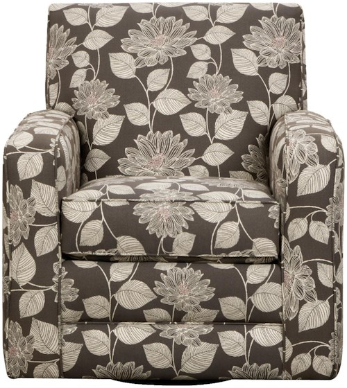 Corinthian 29A0 Swivel Accent Chair with Casual Style