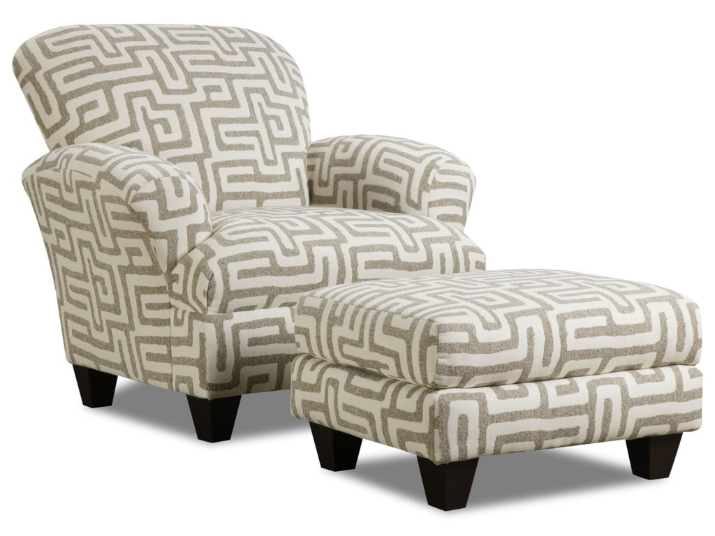 Corinthian ColonistAccent Chair with Contrast Fabric