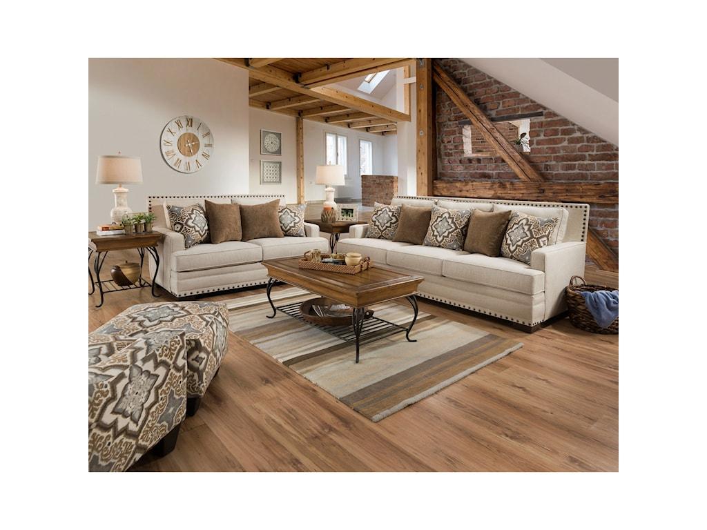 Corinthian 34B0Stationary Living Room Group