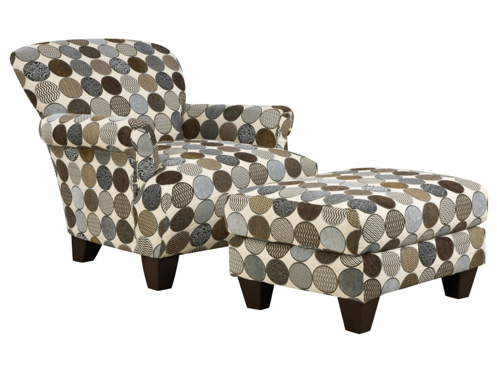 Corinthian 3850 Accent Chair and Ottoman