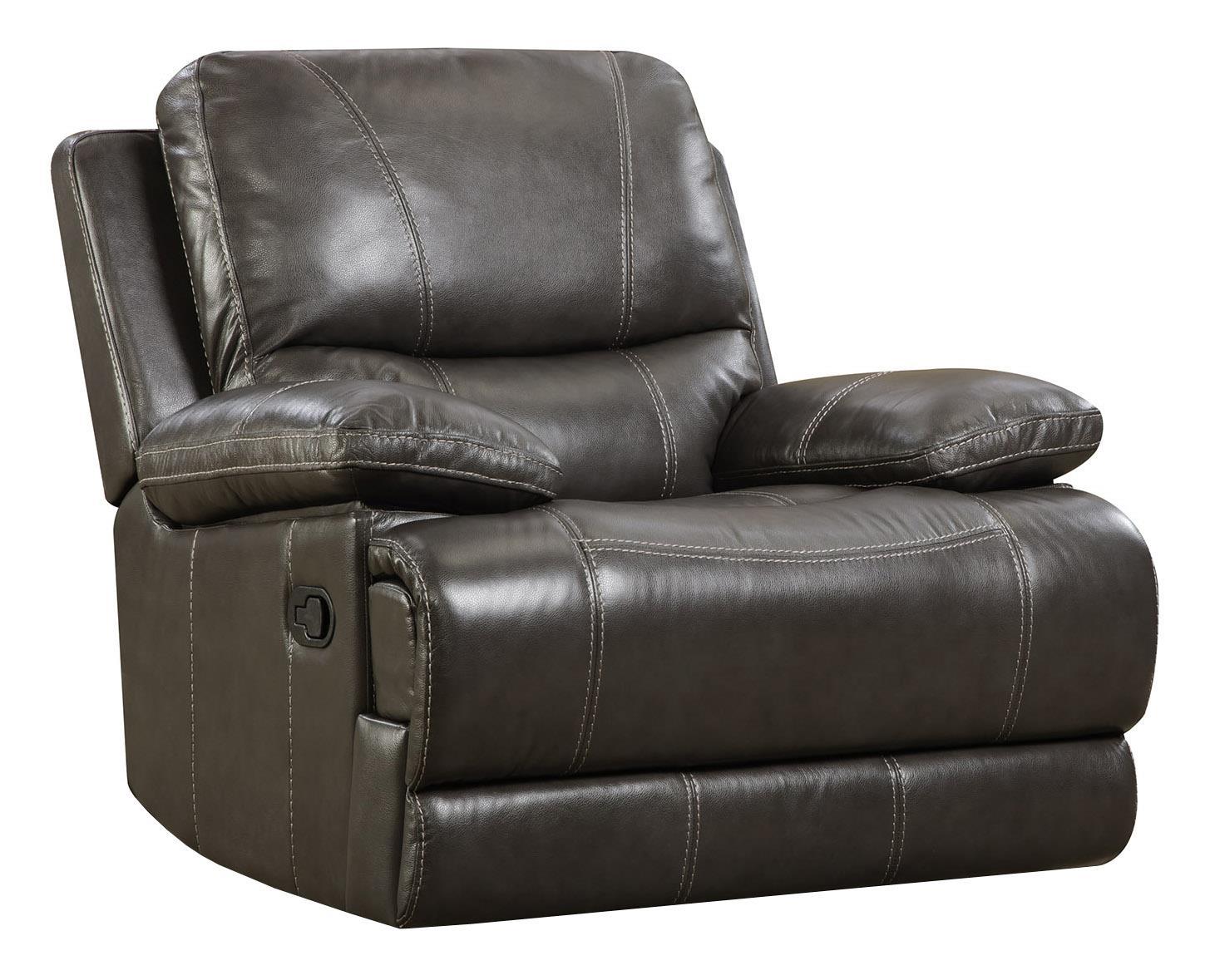 corinthian brooklyn charcoal brooklyn charcoal leather rocker recliner great american home store three way recliner