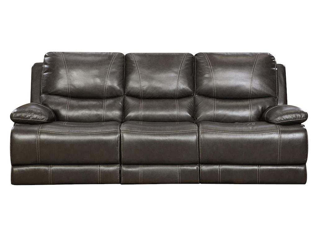 Corinthian Brooklyn CharcoalReclining Sofa